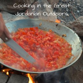 Cooking in Jordan in the Great Outdoors